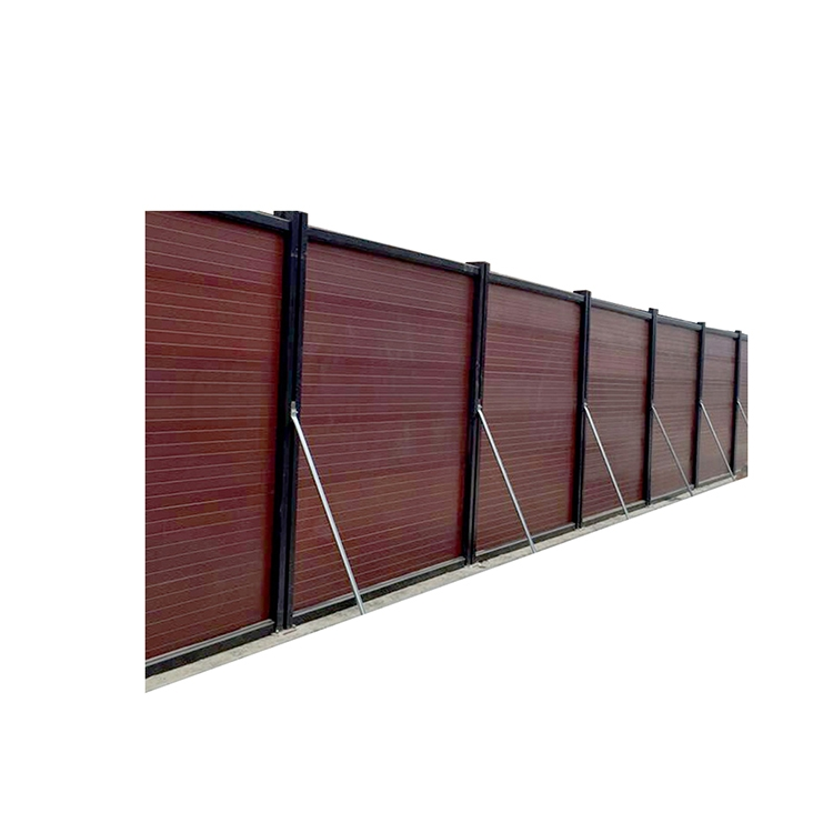 惠州环保美观装配式木塑红板围挡
